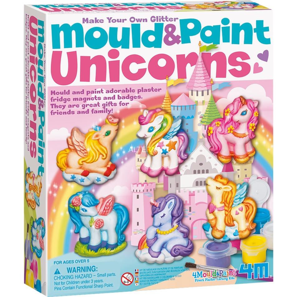 4M Mould & Paint - Glitter Unicorns, Basteln