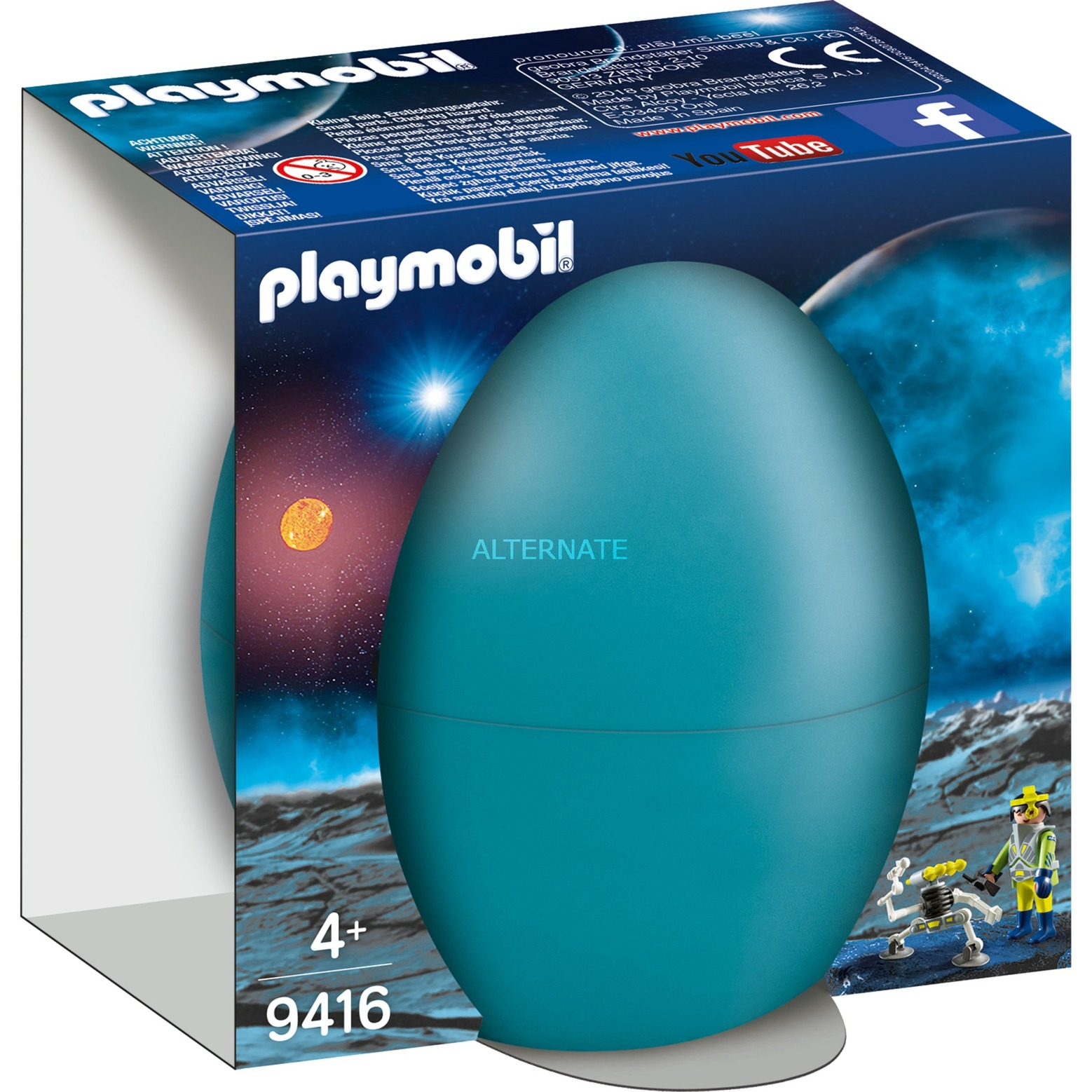 Playmobil 9416 Space Agent Mit Roboter Konstruktionsspielzeug