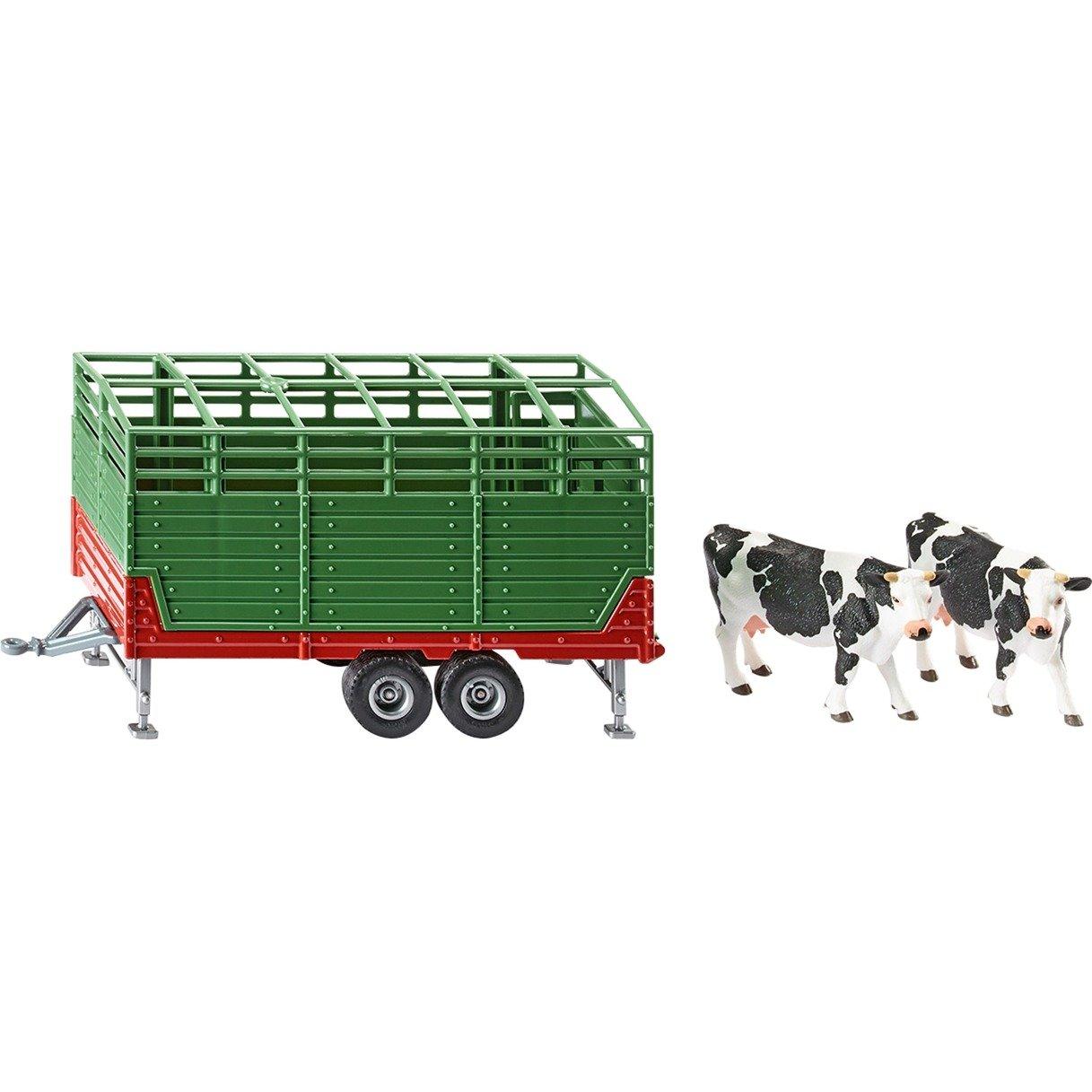 SIKU FARMER Viehanhänger dunkelgrün Modellfahrzeug