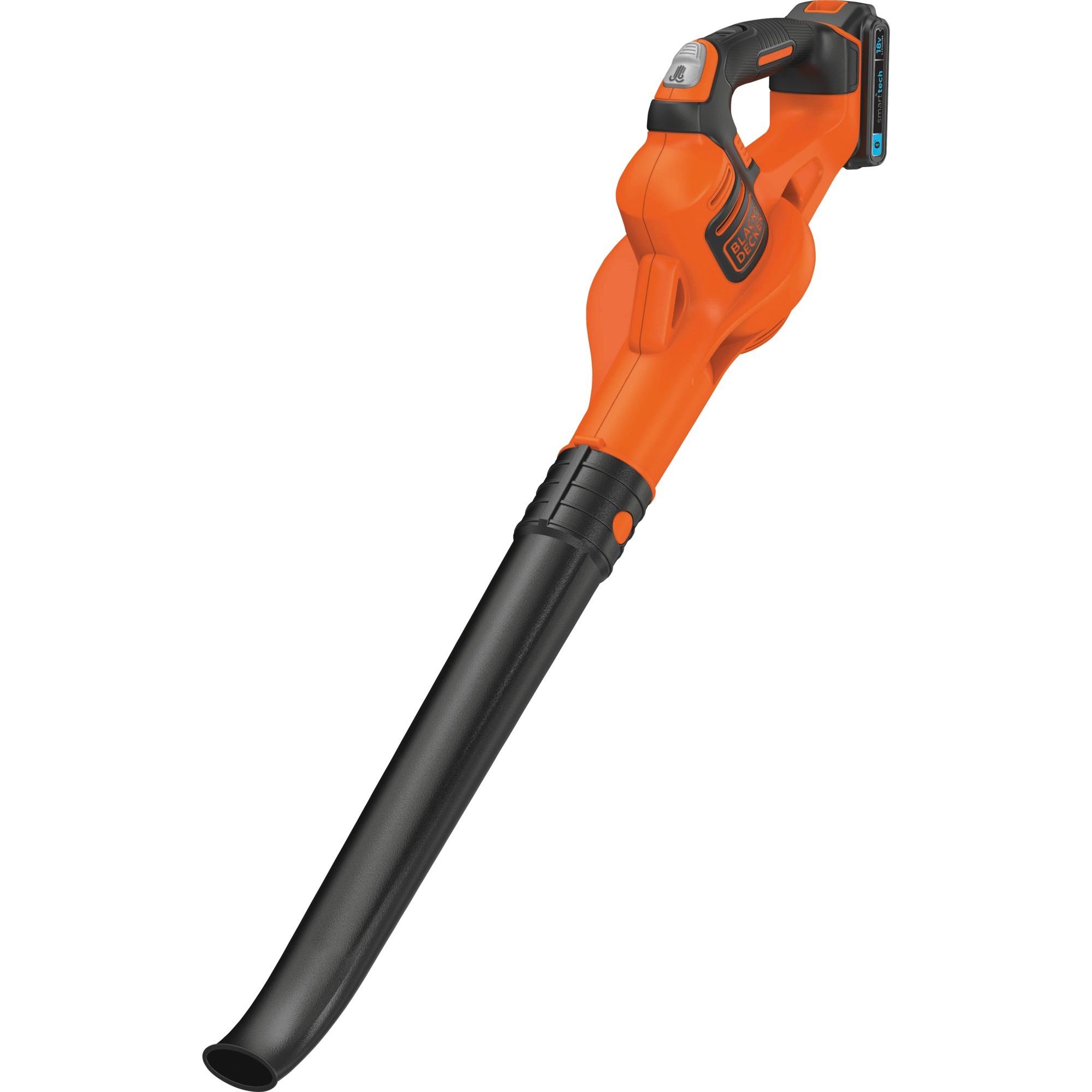 black+decker akku-luftbesen gwc1820pst, 18volt, laubgebläse orange
