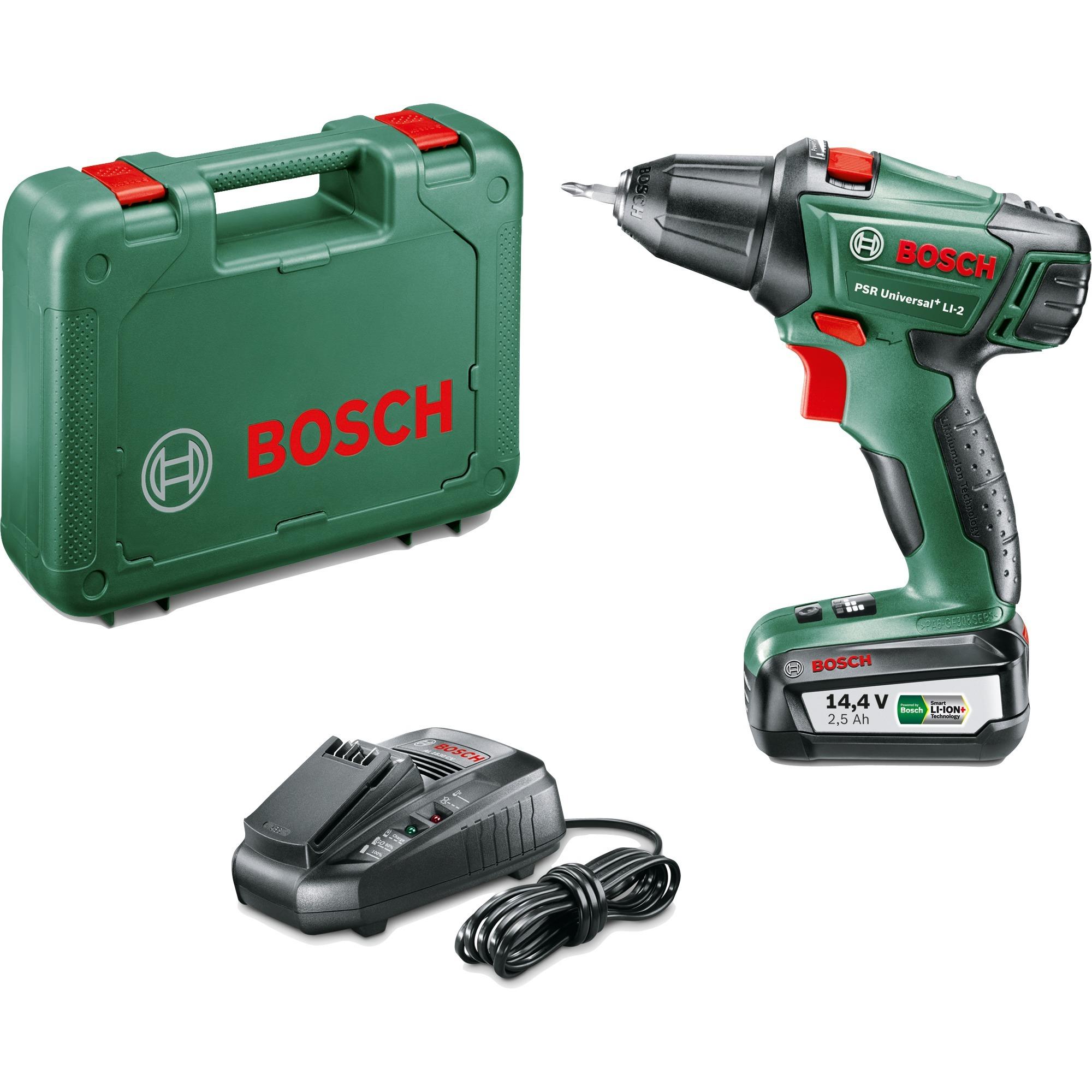 bosch akku-bohrschrauber psr universal+ li2 14,4v grün/schwarz