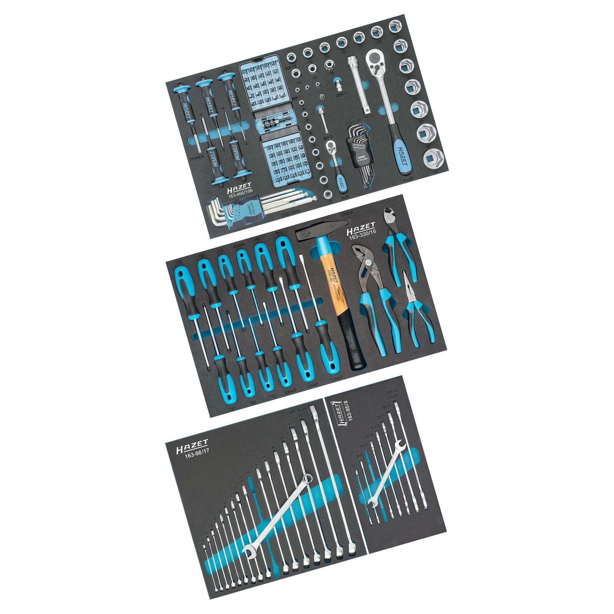 cfdf59ea96be8f Hazet Werkzeug Sortiment 0-178N/147, Werkzeug-Set schwarz/blau, 147-teilig