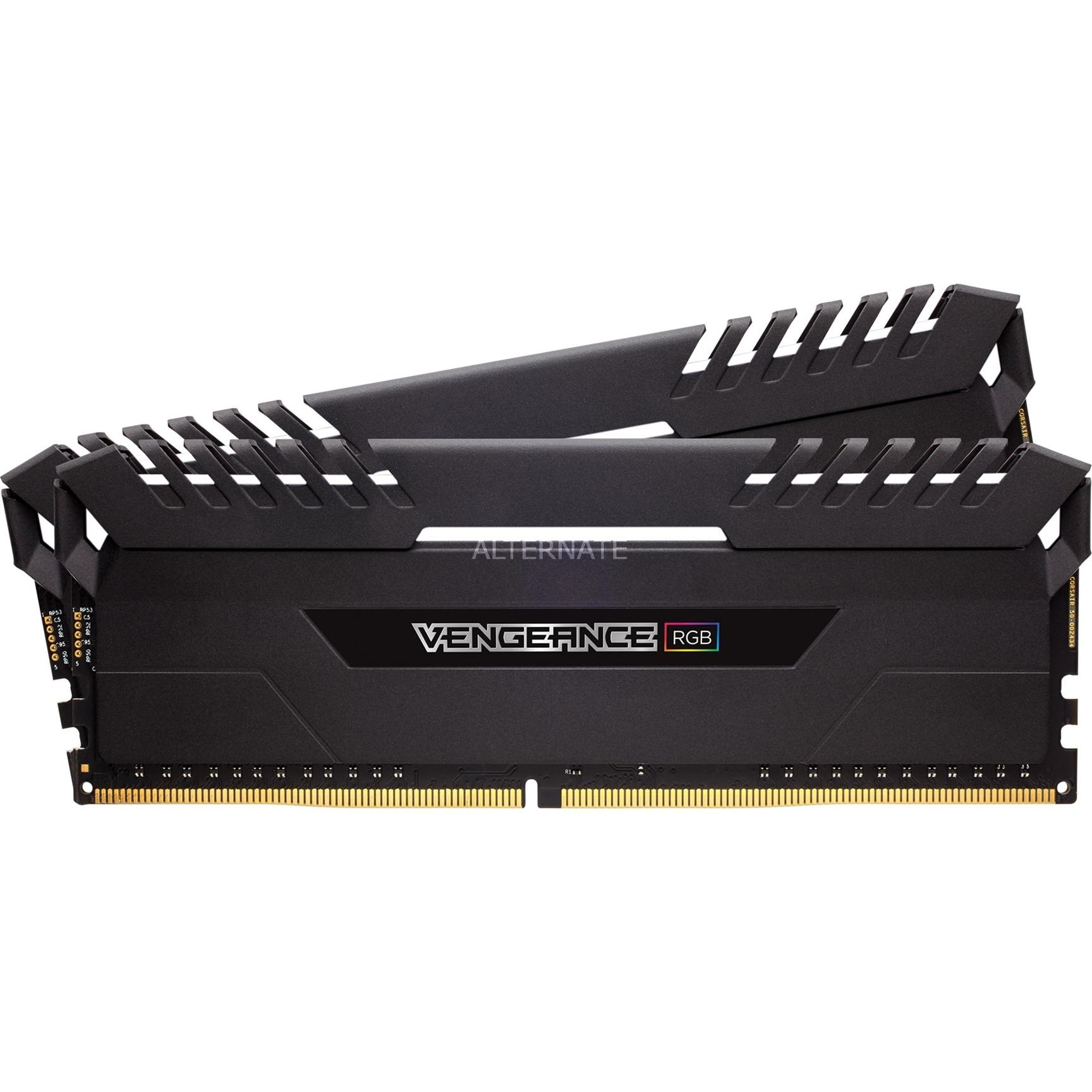Corsair DIMM 16 GB DDR4 3000 Kit Arbeitsspeicher schwarz CMR16GX4M2C3000C15 Vengeance RGB
