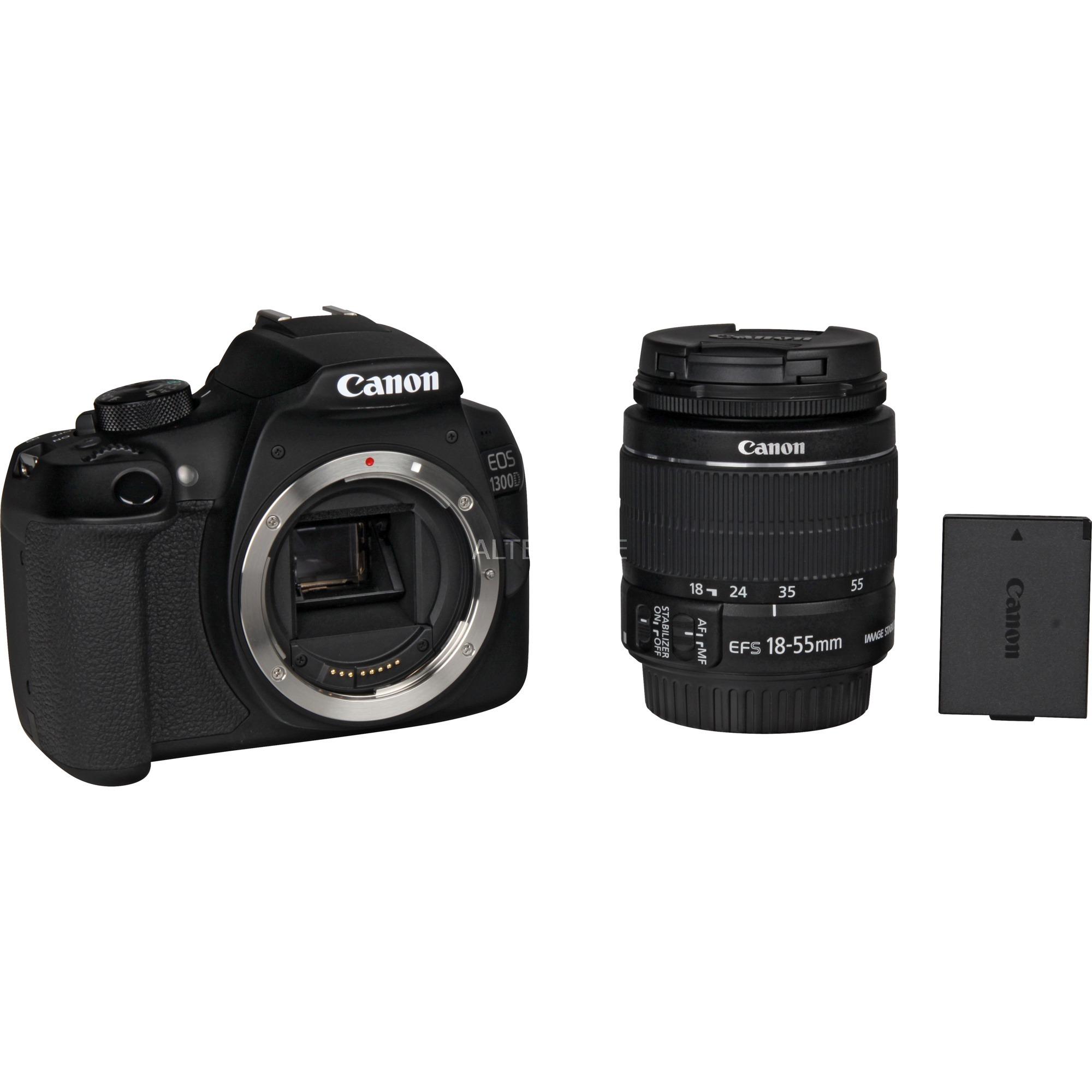 Canon Eos 1300d Kit 18 55 Is Ii Digitalkamera Schwarz Inkl Iii Objektiv Und 2 Akku